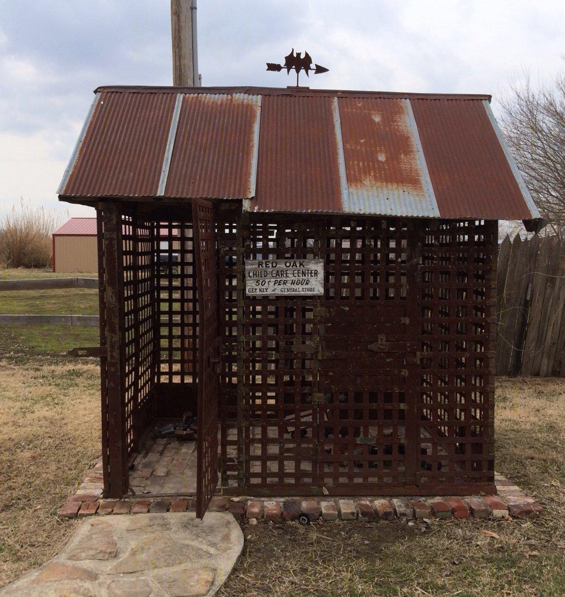 Rusty building a chicken coop at red oak ii