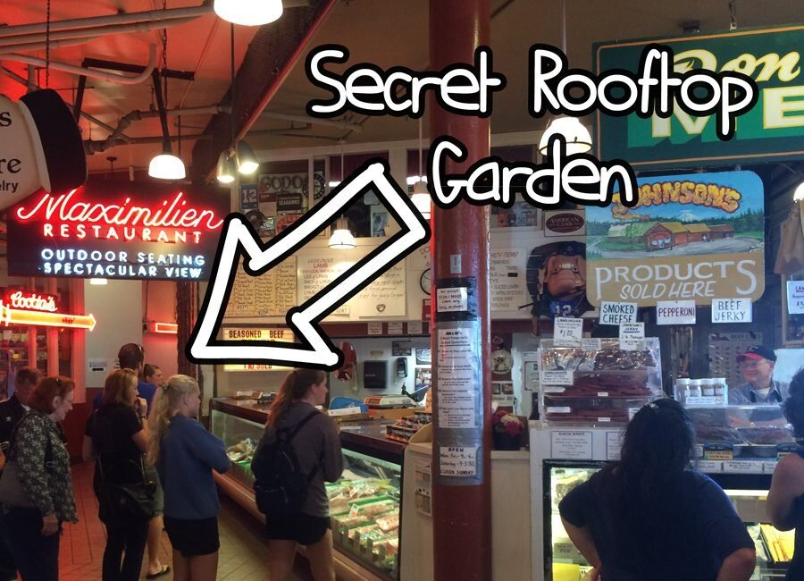 Directions to pike place market's secret free rooftop garden