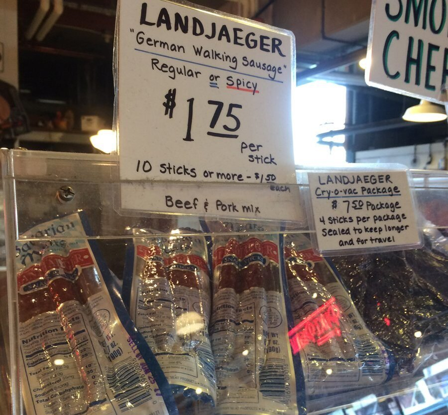 Beef jerky at the market