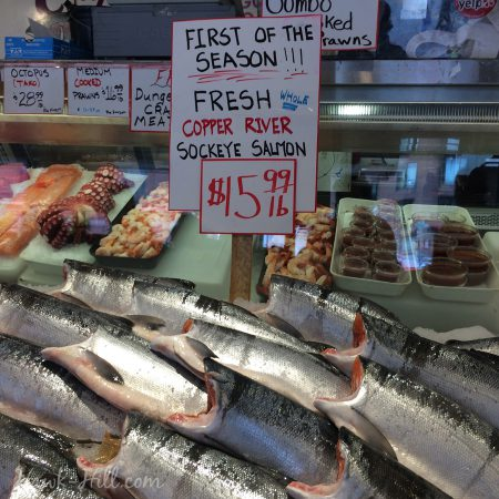 The week salmon season started, at Pike Place Market