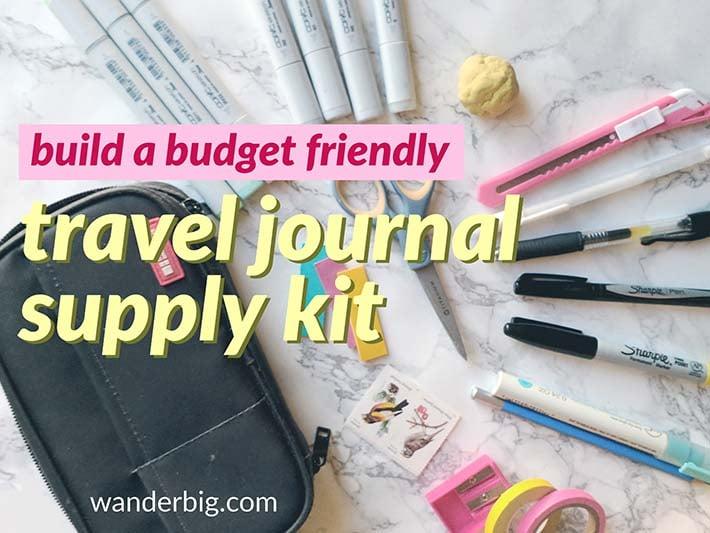 Wb budget travel journal supplies copy