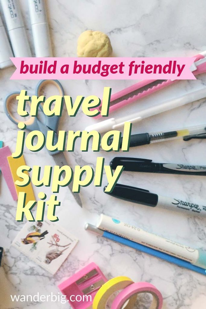 Wb budget travel journal supplies tall