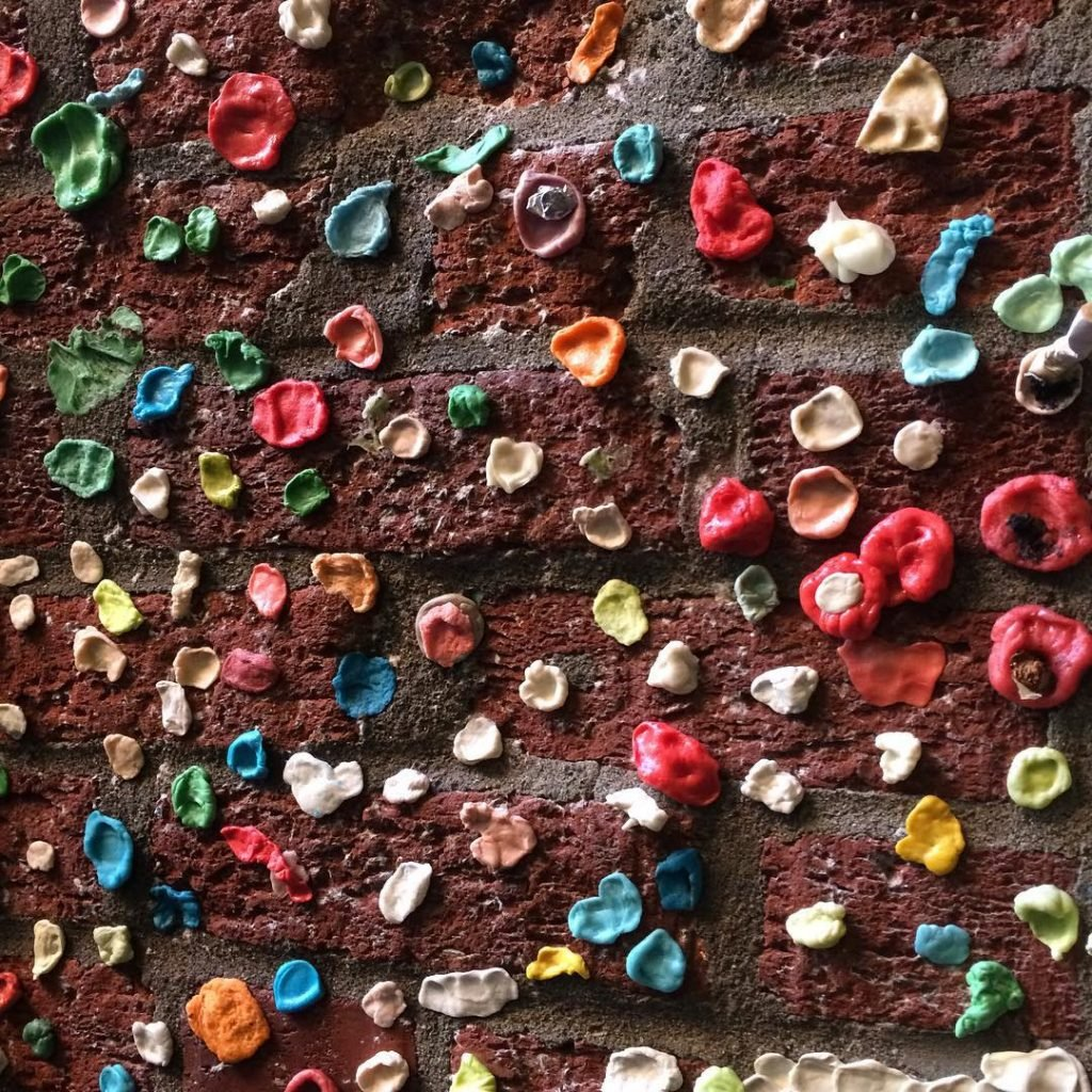 Pike place's iconic gum wall regenerating after its annual cleaning
