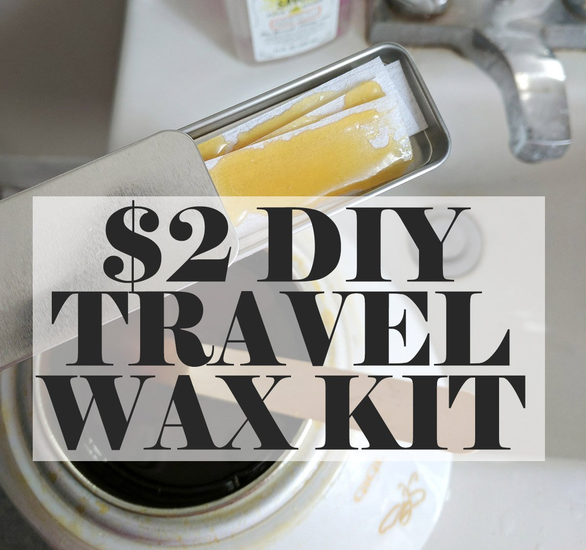 DIY instructions for making a travel size personal waxing kit