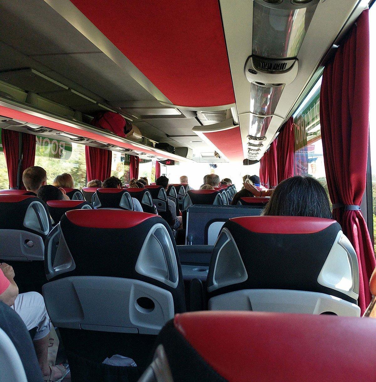 An intercity bus in croatia