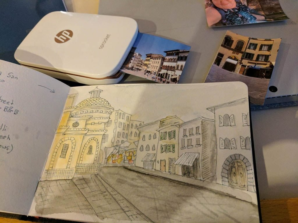 Travel printer for art journal