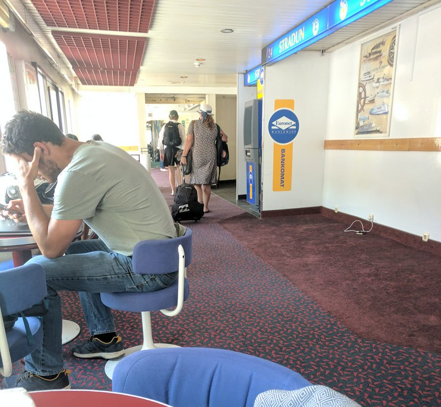 "Ridiculously sized seating aboard the Jadrolinija vessel ""Dubrovnik"""