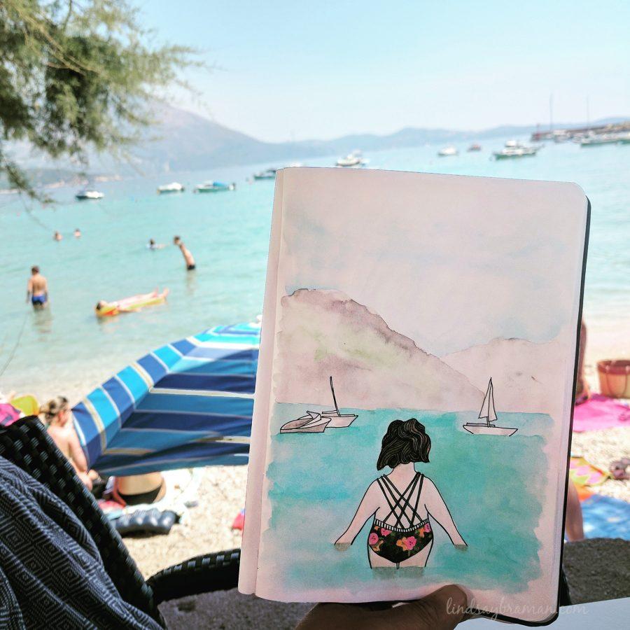Lb travel journal doodle art 002