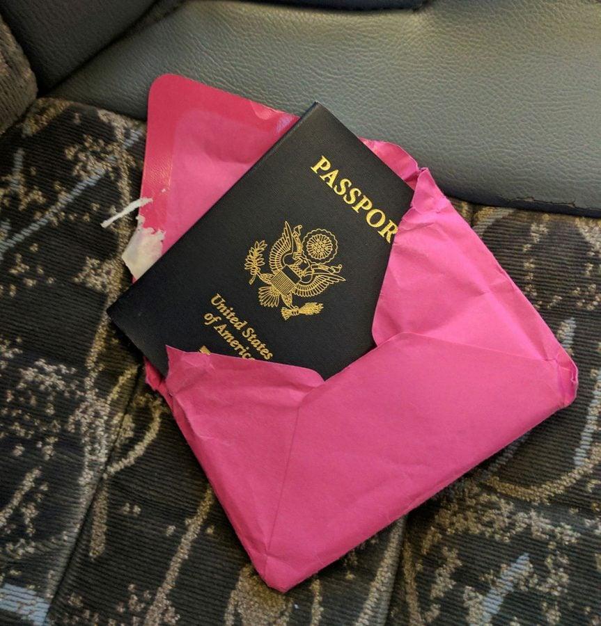 Solo travel security passport tip