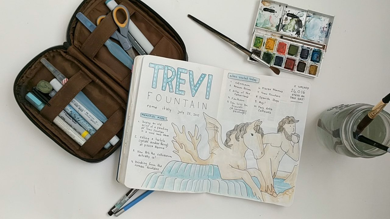 A travel journal page from italy.
