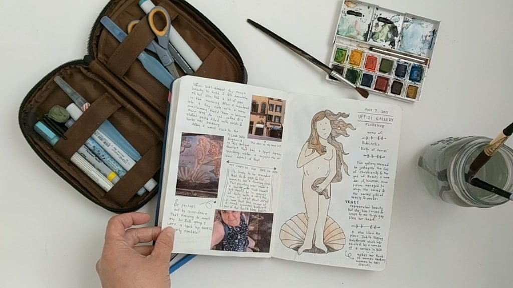 lb travel art journal video still 4