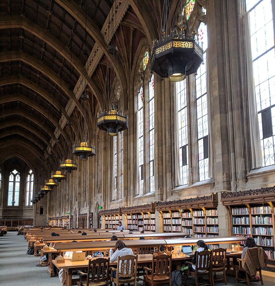 Suzello library on the campus of the university of washington.