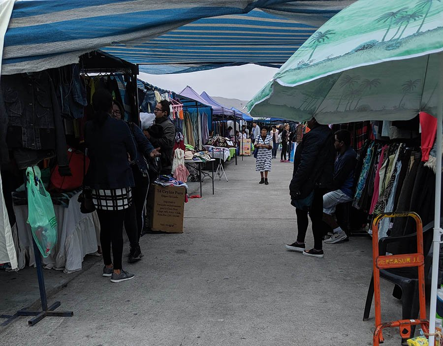 In arica chile, the decidedly not touristy sunday street market stretches for miles and includes literally anything – new or used – you might want