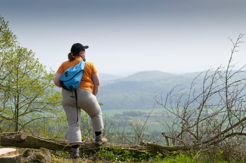 Plus size hiker