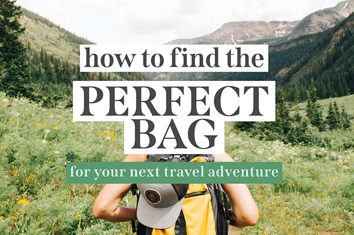 how to find your perfect bag for minimalist travel