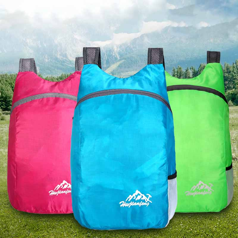 20l waterproof backpack ultralight foldable bag breathable shoulder strap outdoor camping hiking backpack with storage bag