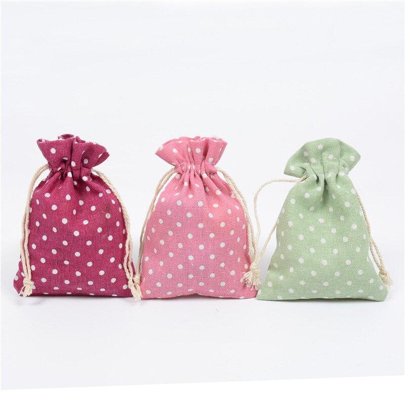 eTya Girl Small Dot Cotton Linen Drawstring Bag Women Money Coin Phone Card Storage Pocket Bag.jpg