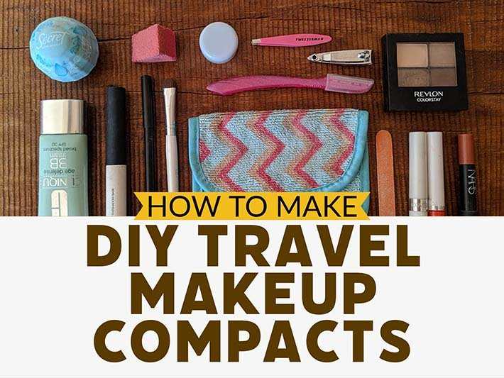 How to make your own travel makeup compacts