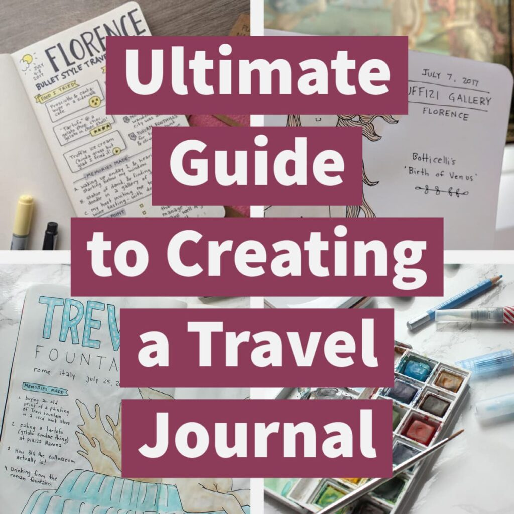 A free guide to how to create, store, pick, and pack a travel journal