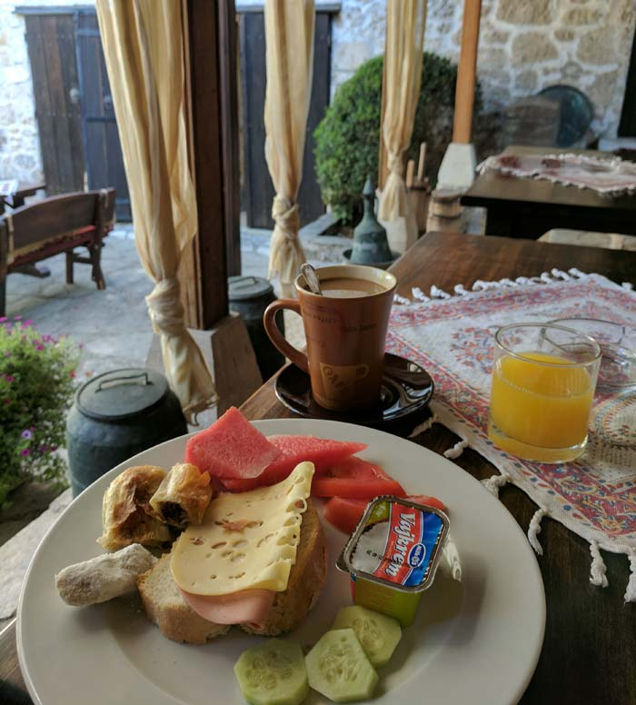 A traditional breakfast in bosnia, shown here, should make anyone's list of things to do in bosnia.