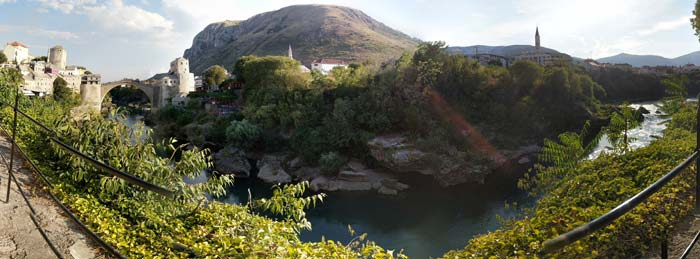 The view from the scenic overlook in mostar bosnia