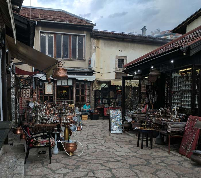An outdoor market in sarajevo