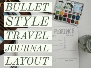 How to make a bullet journal style travel journal layout - free printable