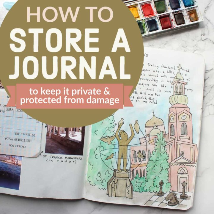 How to store a travel journal