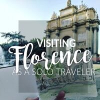 solo traveling in Florence, Italy