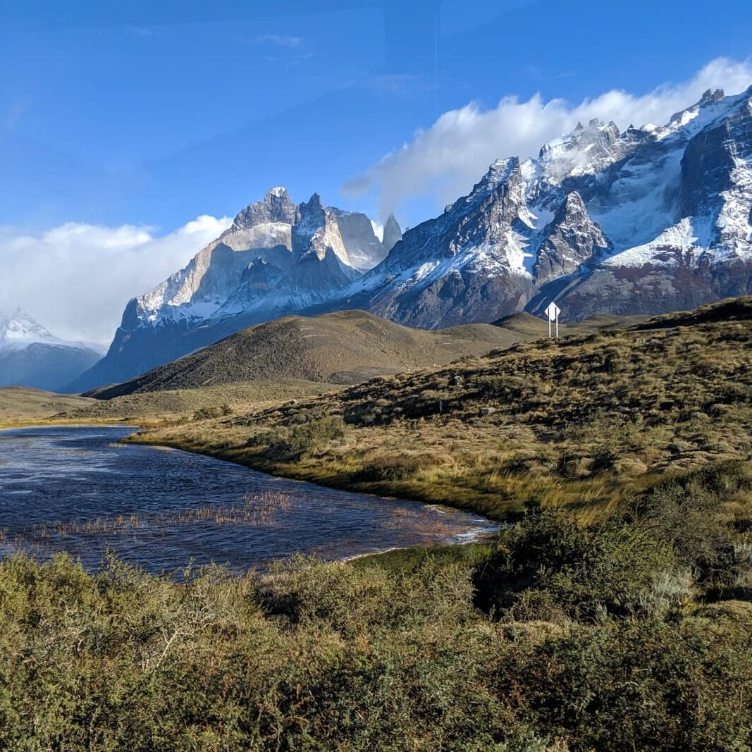 Scenic view of Torres del Paine