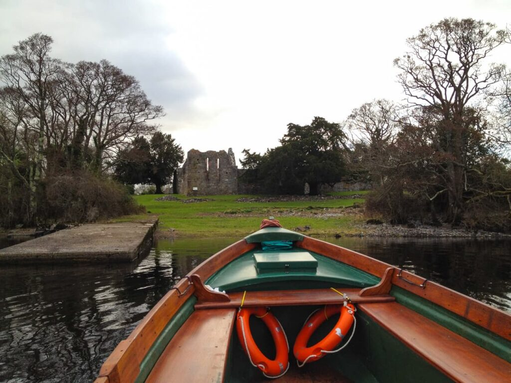 Arricing by boat to innisfalen island is one of many exciting and memorable things to do in killarney, ireland