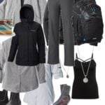 Plus size travel capsule wardrobe
