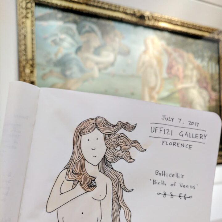 how to make a travel journal filled with art