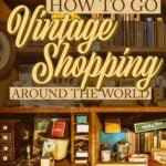 Buying vintage souvenirs from international thrift stores