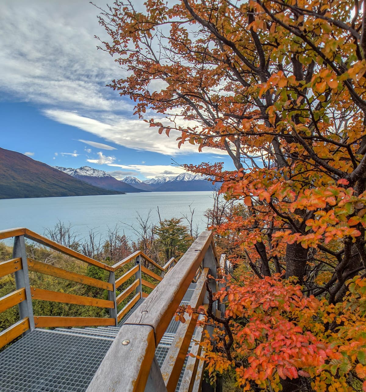 April is a dramatic time to visit argentina- and catch peak fall foliage.