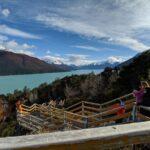 Walkways at perito moreno glacier