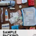 A sample packing list for solo female minimalist travel to international and domestic destinations.