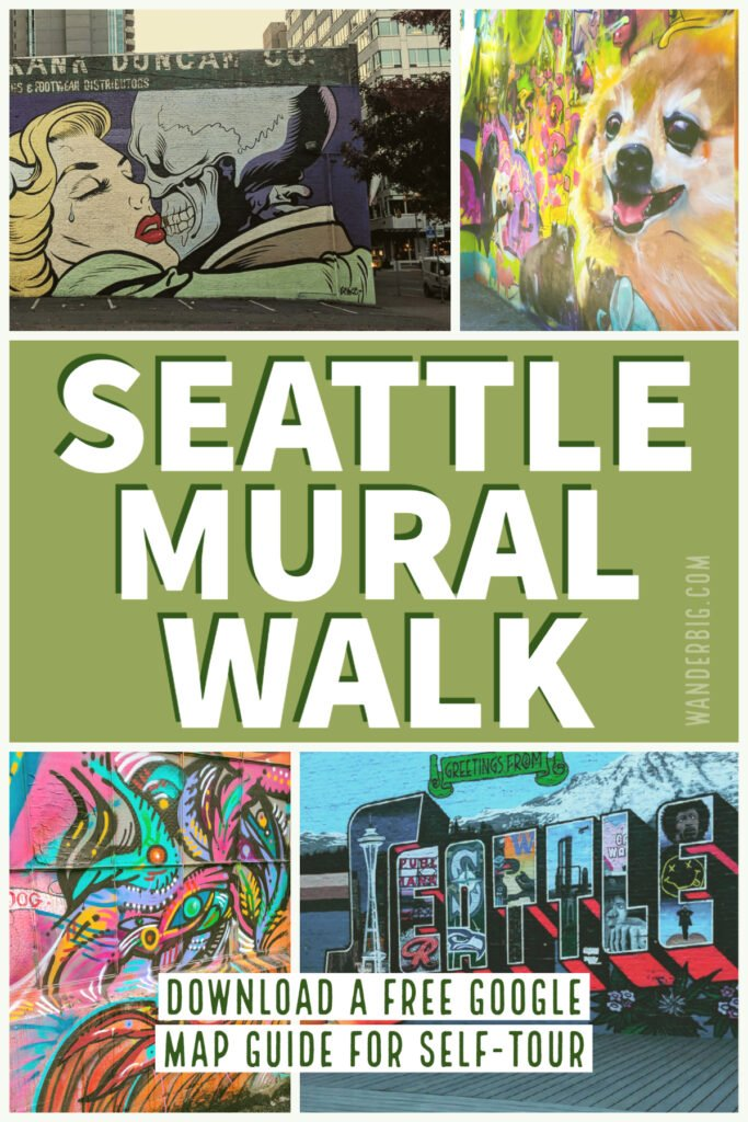 Follow this map to a self guided mural tour near pike place market