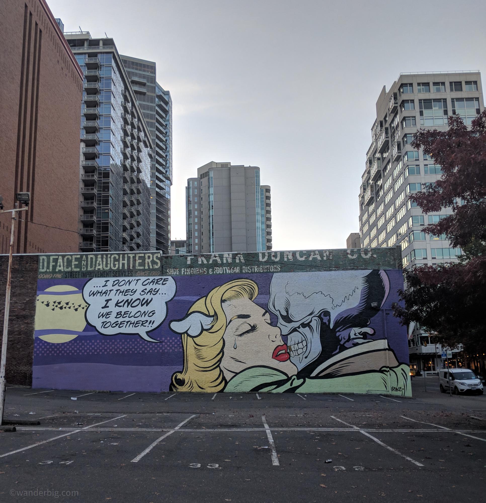 A comic inspired mural
