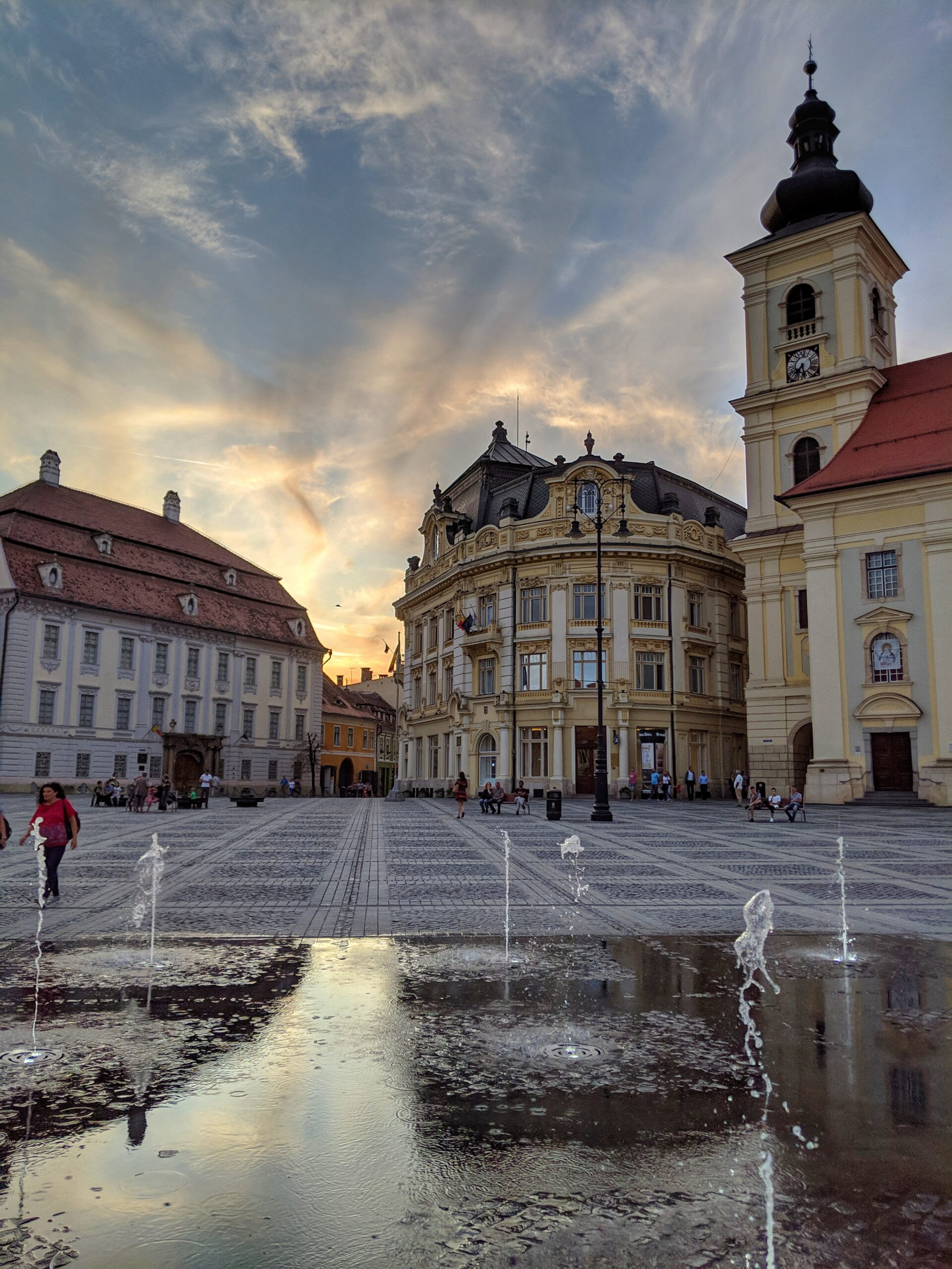 Views from the square in sibiu, romania