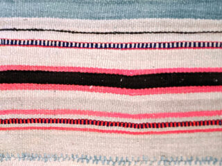 Close-up pattern of a Andean woven blanket.
