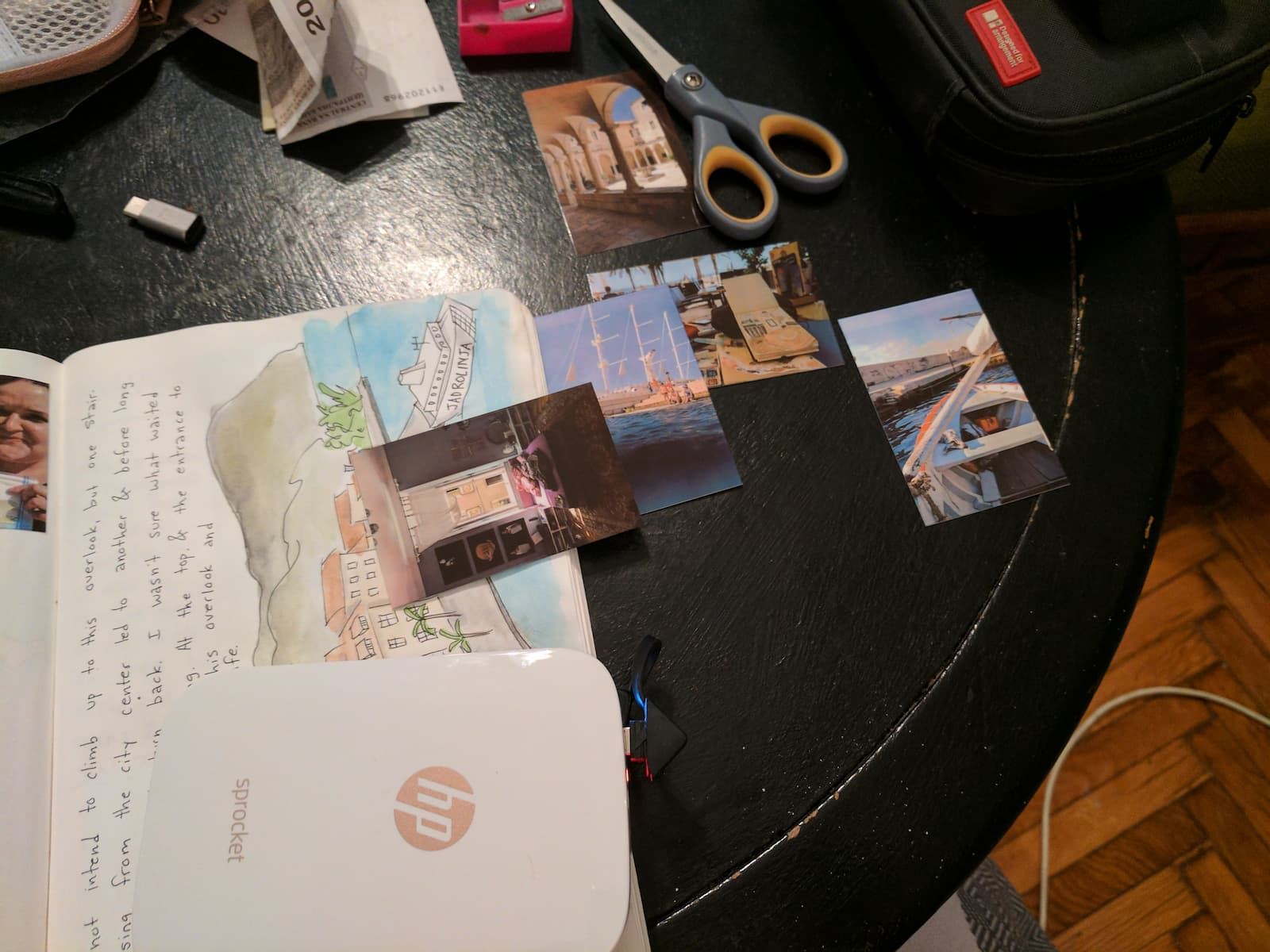 Wb travel journal art photos page