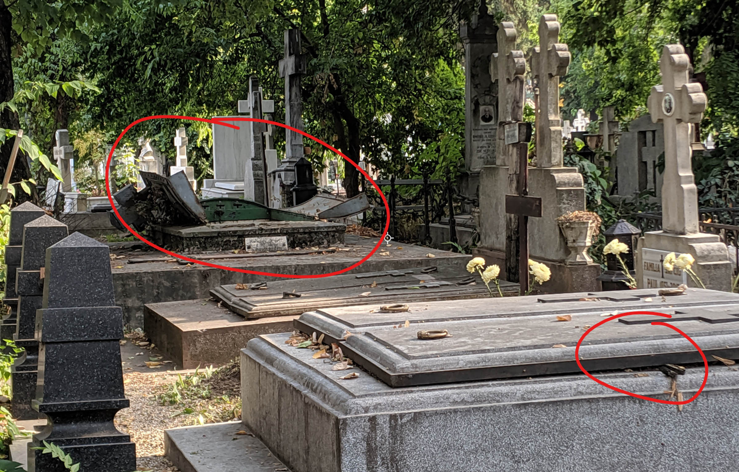 Open graves in bucharest.