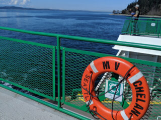 Outside decks on a Washington State Ferry