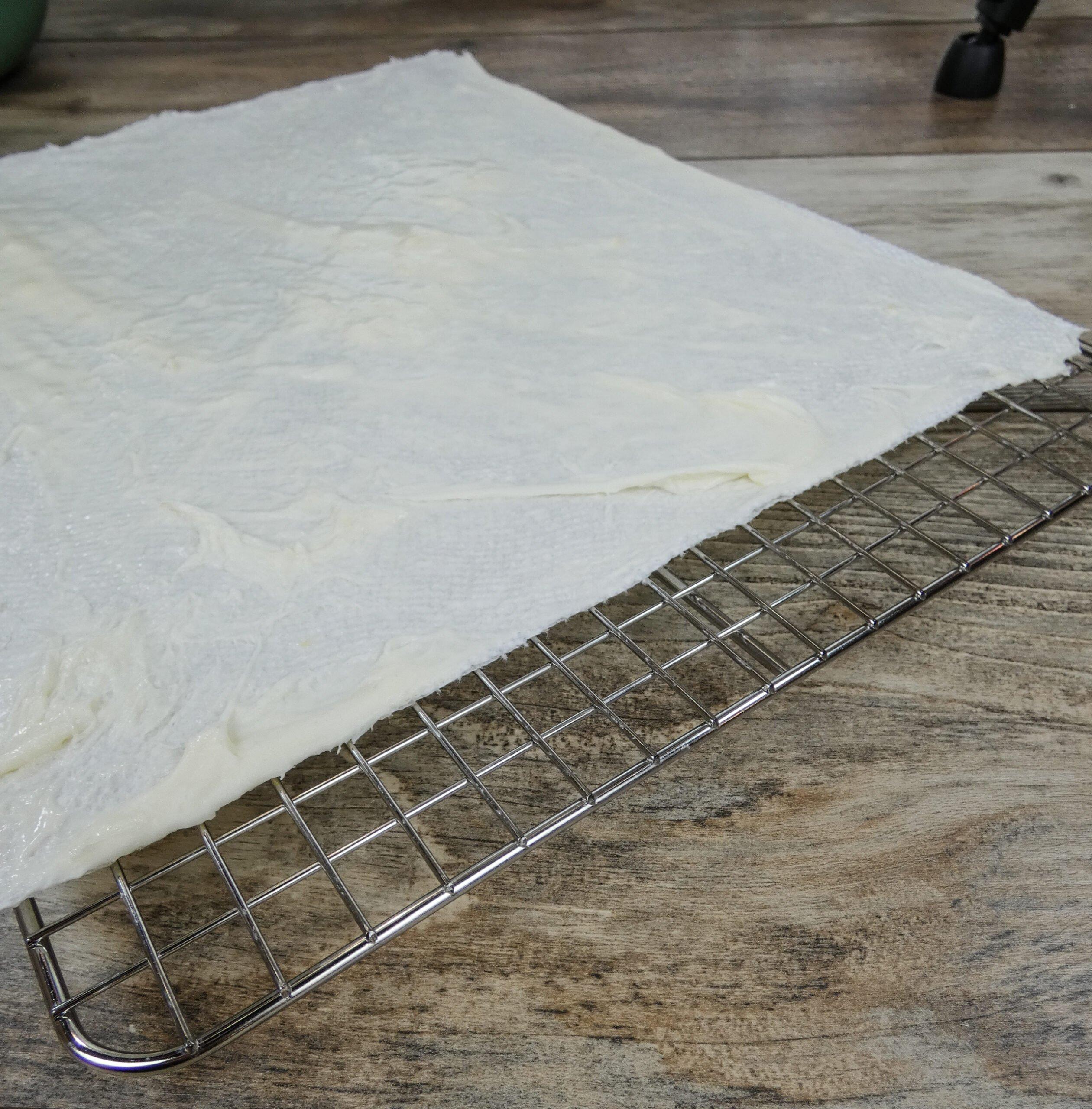 A homemade laundry detergent sheet