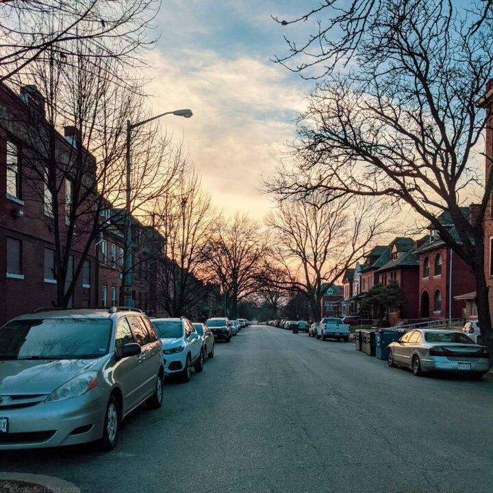Houses in urban Saint Louis.