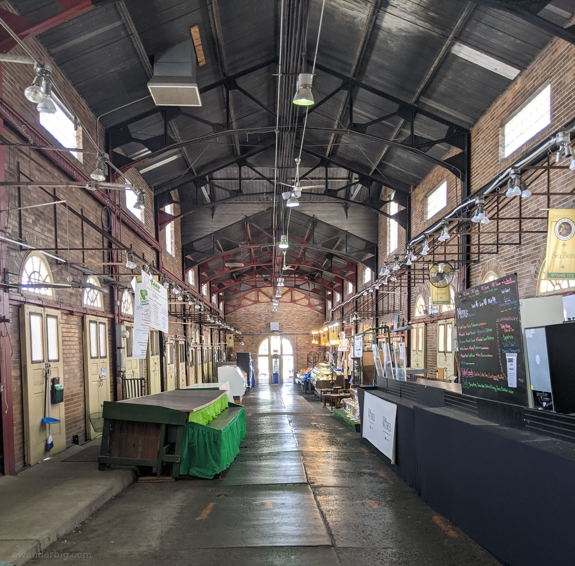 Soulard market's vendors hall, empty on a friday afternoon.