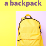 How to store a backpack.