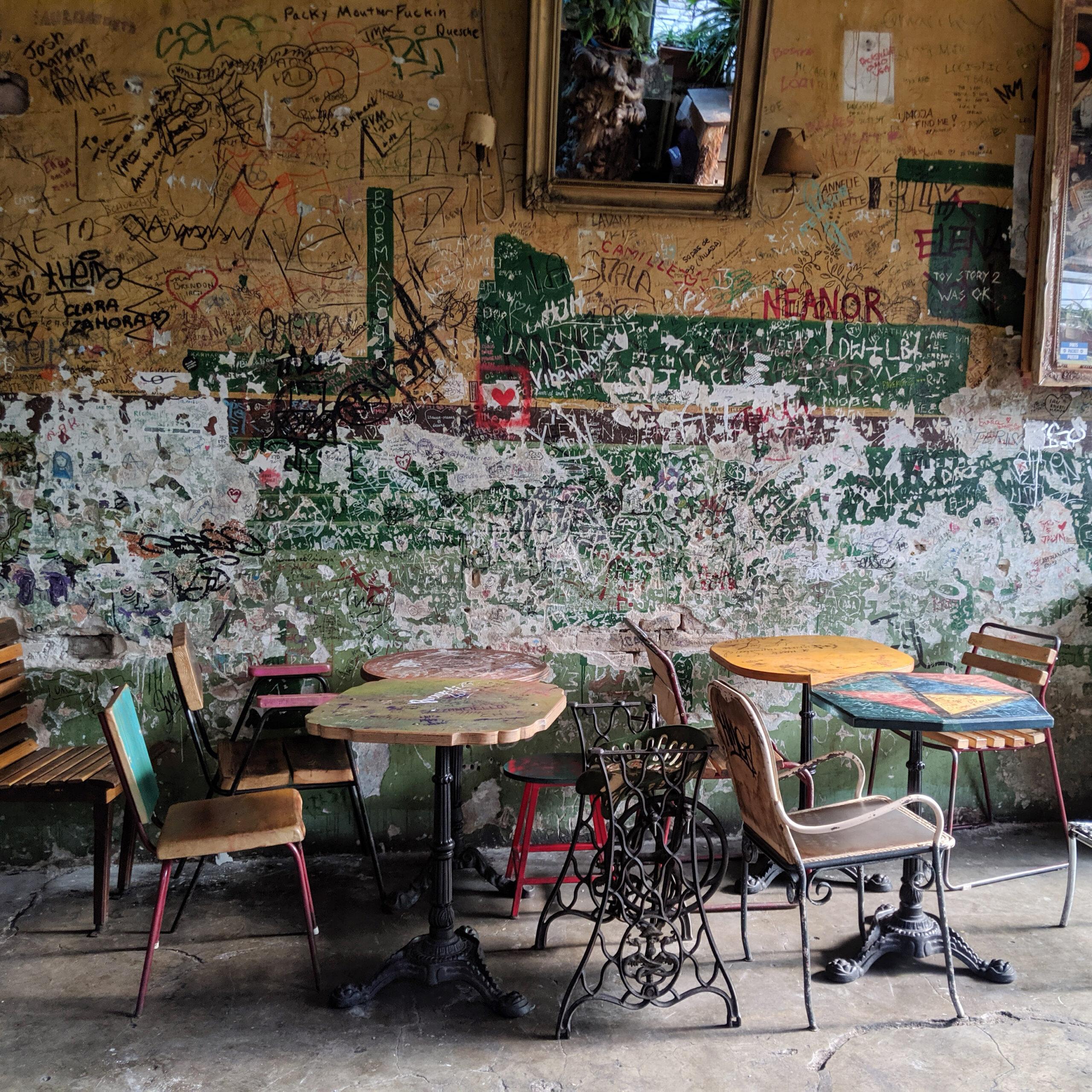 An empty restaurant in budapest.